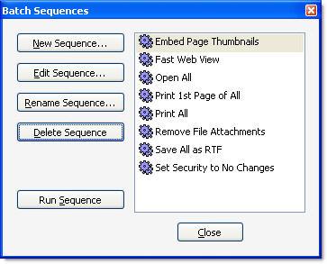 Handling batch sequences in Acrobat 8