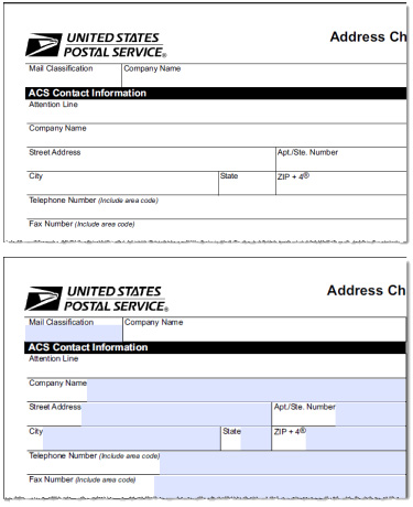 Terrible image regarding usps change of address forms printable