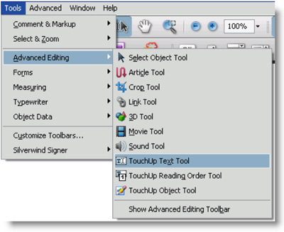 select text in pdf using acrobat 2017