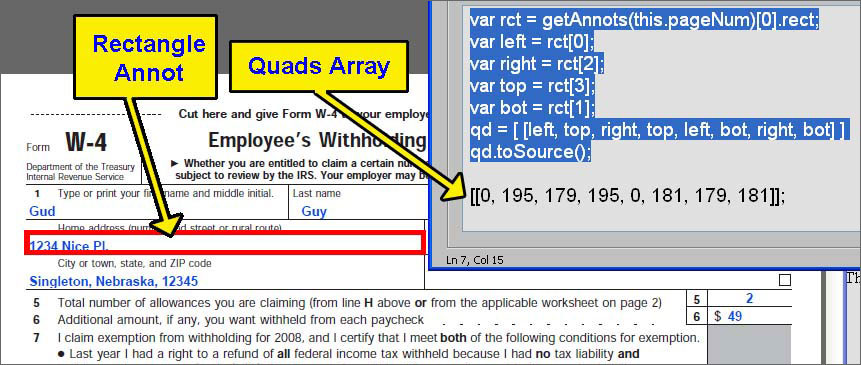 Automating redaction with Acrobat JavaScript and Acrobat 9