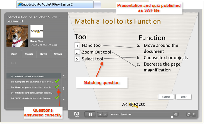 Build a Presenter quiz