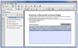Extract Commented Pages