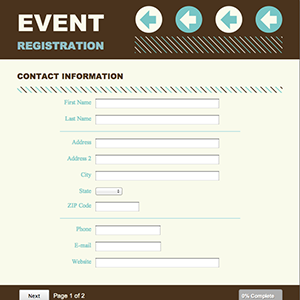 Registration for Event booking form template word