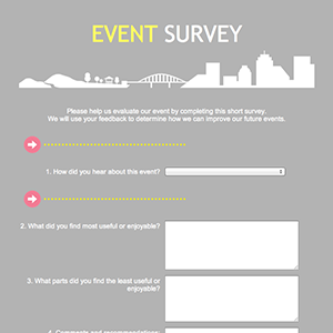 Does free website make money event survey template word for Event survey template word