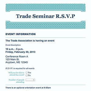 rsvp template for event - formcentral template exchange event rsvp