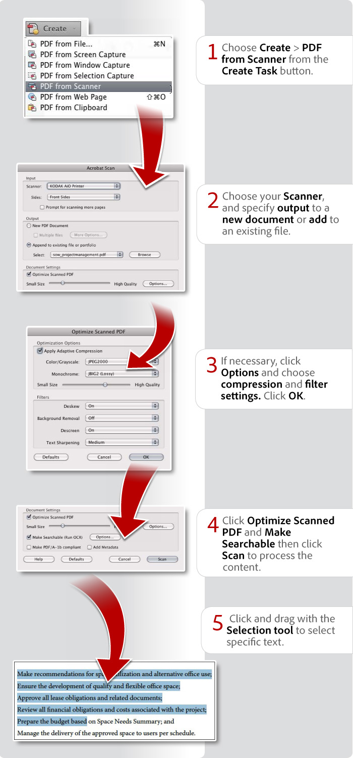 how to scan a paper