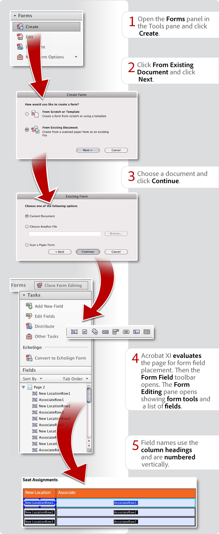 How to create a form from an existing document using Acrobat XI