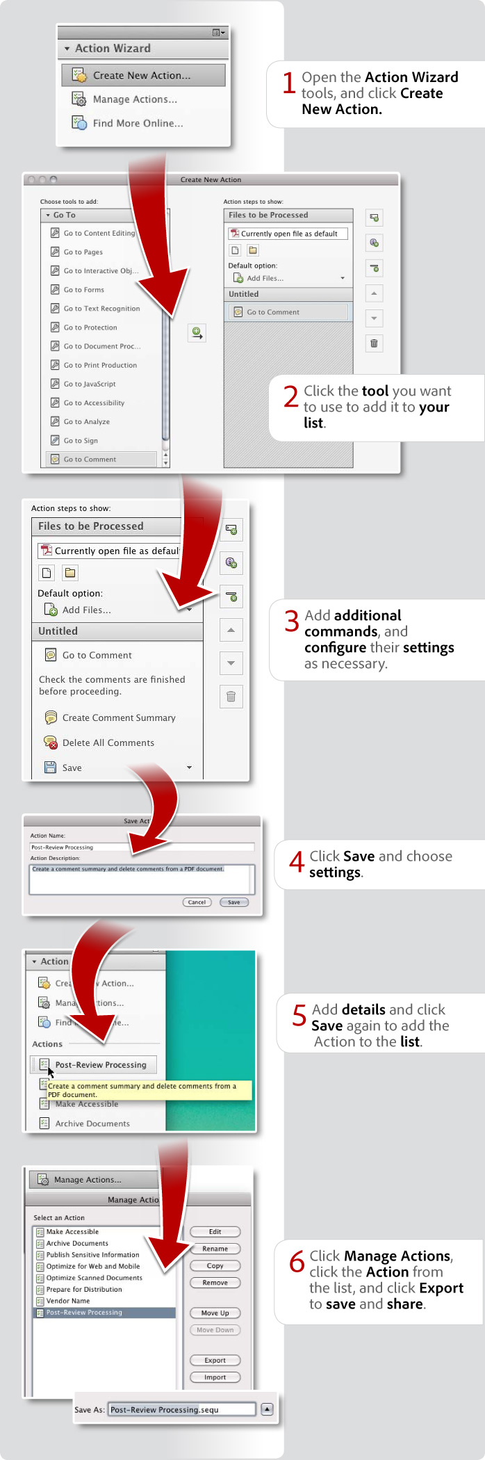 How to create and share Actions in Acrobat XI Pro