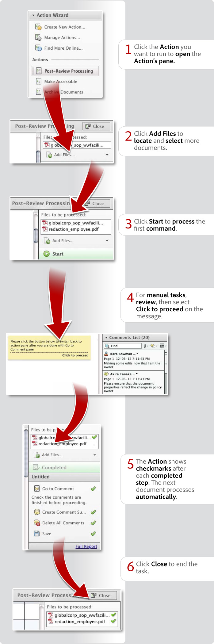 How to work with Actions in Acrobat XI Pro
