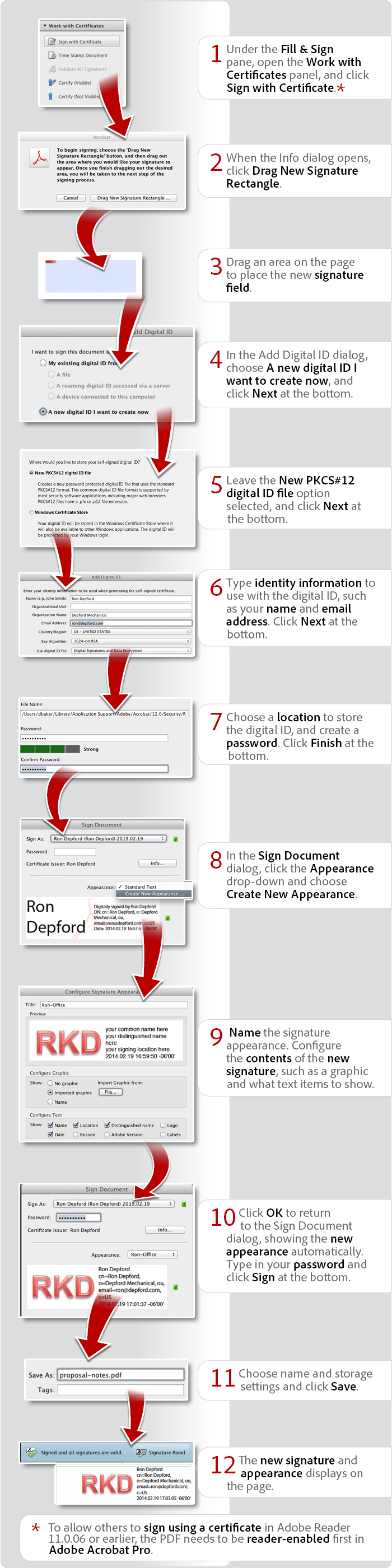 How to sign using a certificate in Acrobat XI and Reader