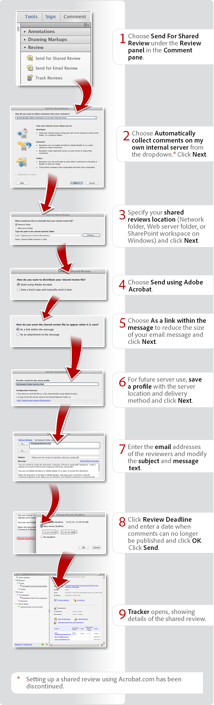 How to set up a shared review with Acrobat XI