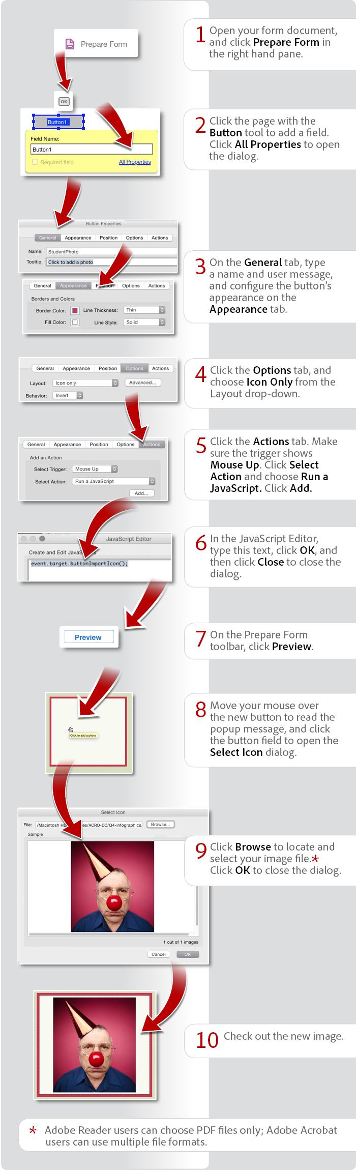Add a button to a PDF form using Acrobat DC