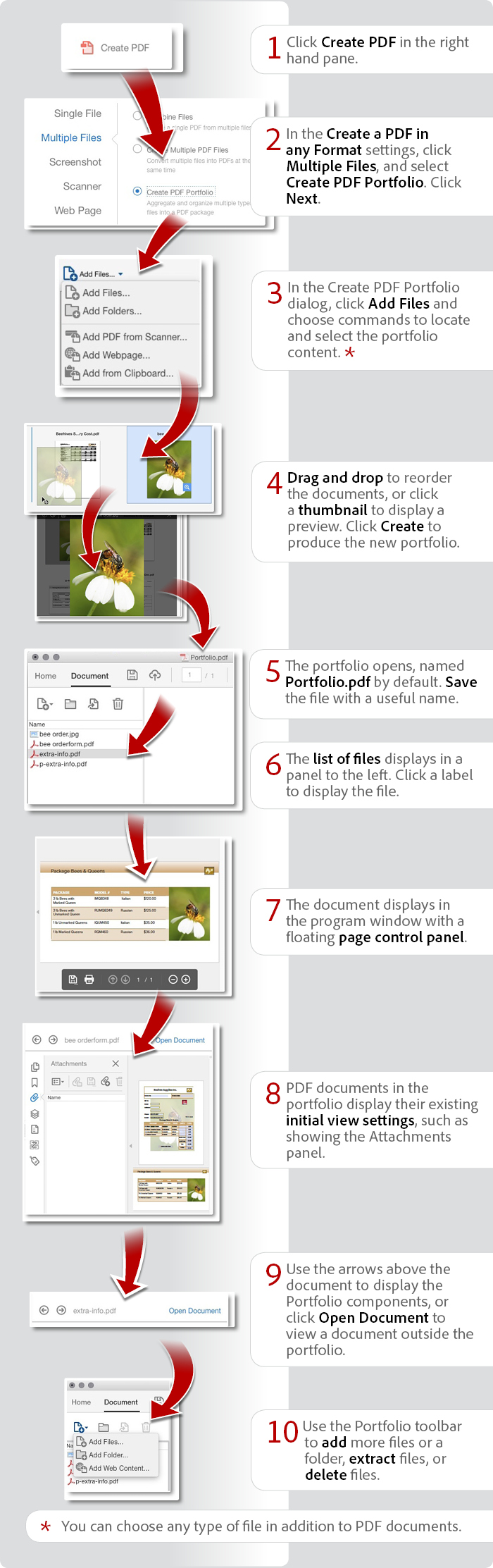 How to combine files to create a PDF Portfolio using Acrobat DC